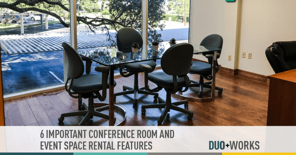 6 important conference room and event space rental features