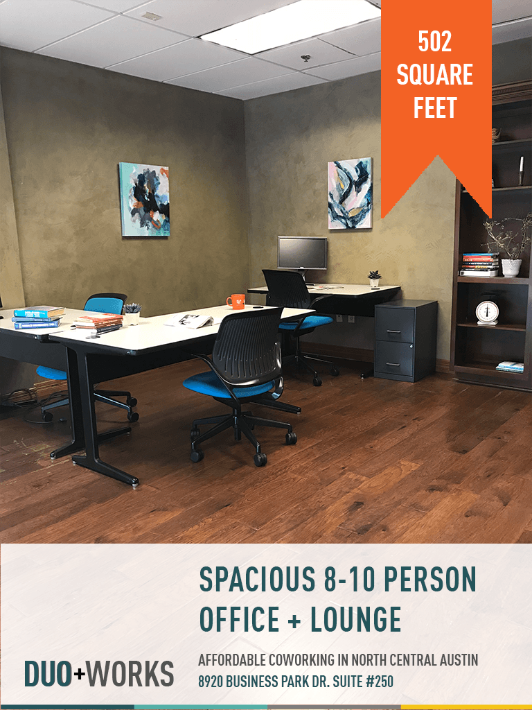 Spacious 8-10 person office + lounge