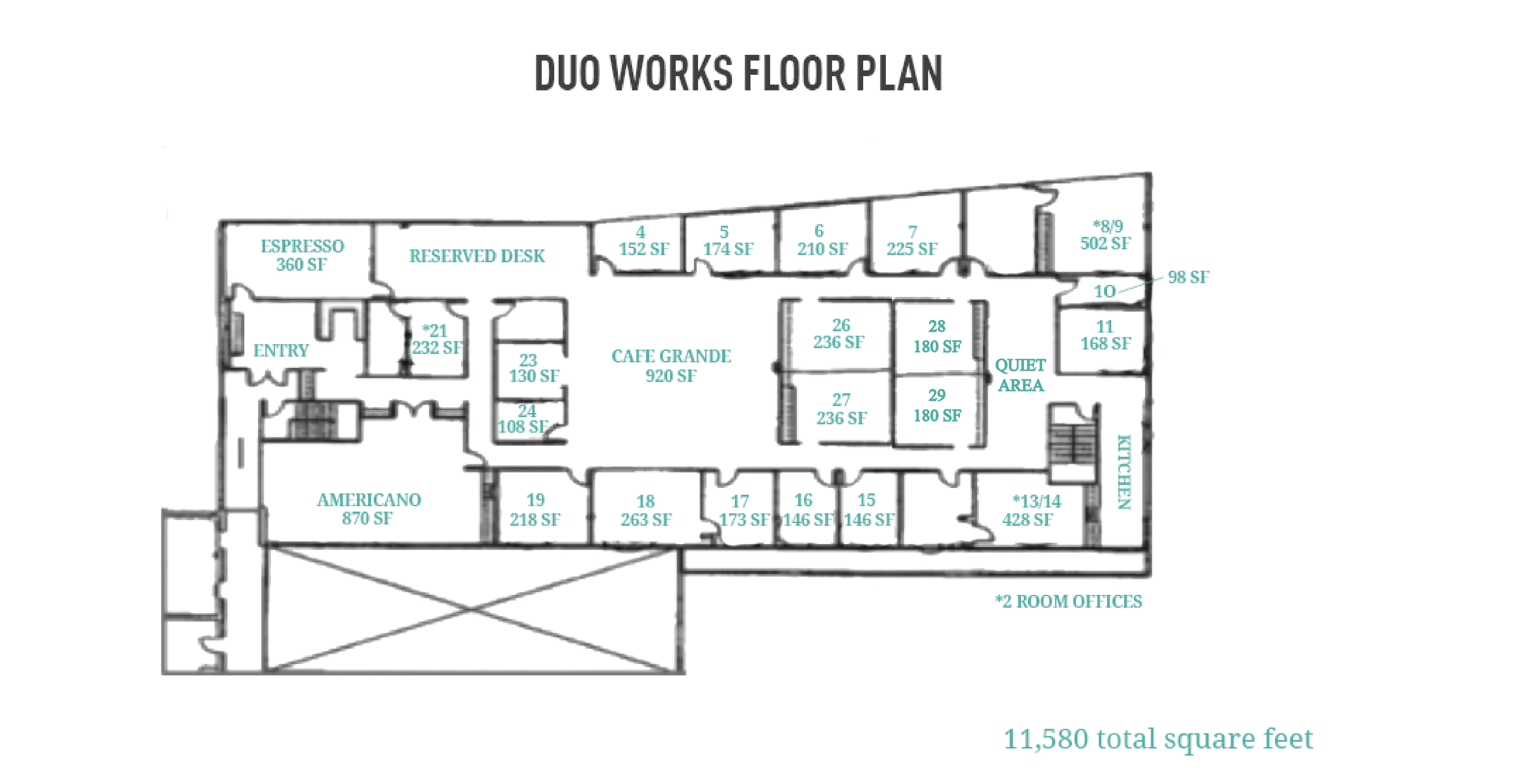 Duo Works Floor Plan + Addition